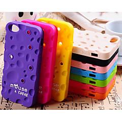 향기 단색 치즈와 권선 장치 실리카 겔 커버 아이폰 5 / 5S 경우 (모듬 된 색상)