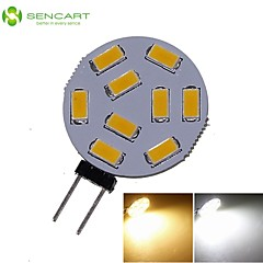 G4 4.5W 9x5730/5630SMD LED 380LM 3000K 6500K Warm White/Cool White for Car Light Bulb (DC9-36V)