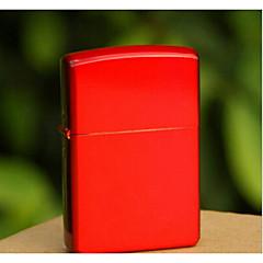 luxueuse chrome brillant rouge plaqué kérosène plus léger