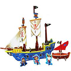 DIY piratskib formet 3d puslespil