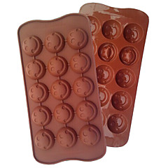 mode DIY smil miljøvenlig silikone chokoladekage værktøjer barware køkken