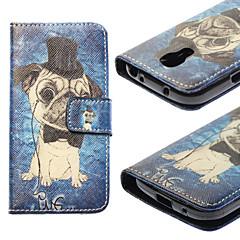For Samsung Galaxy etui Kortholder / Med stativ / Flip / Mønster Etui Heldækkende Etui Hund Kunstlæder Samsung S4 Mini