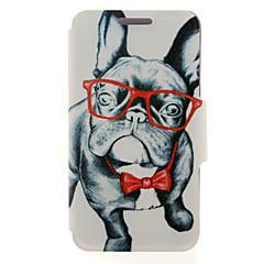For Samsung Galaxy etui Kortholder / Med stativ / Flip / Magnetisk / Mønster Etui Heldækkende Etui Hund Kunstlæder SamsungA8 / A7 / A5 /