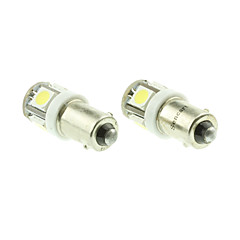 BA9S T4W  W6W LED Blue/Red/Warm White/Green/Yellow/White 1.5W 5X5050SMD 90LM   for Car Light Bulb  (DC12-16V)