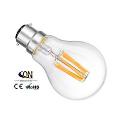 ONDENN B22 6 W 6 COB 600 LM 2800-3200K K Warm White A Dimmable Globe Bulbs AC 220-240/AC 110-130 V