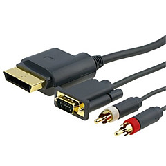 hd vga / audio 2-rca / kabel video untuk xbox 360