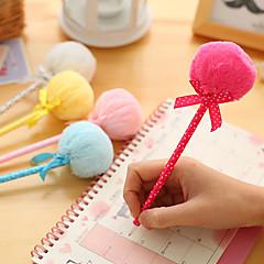 Plush Ball Design Ball Pen(Random Colors)