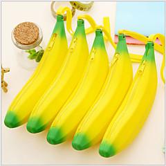 Banana Shaped Silicone Change Purse Stationery Bag