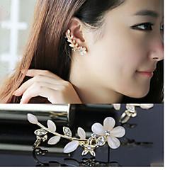 Diamond Opal petals Alloy Ear Cuffs (A,B)(1pc)