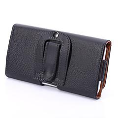 universal pu litchi clip solki avautuu ylös ja alas vaaka kotelo roikkuu taskuja Samsung Galaxy S5 s6 s3mini a3
