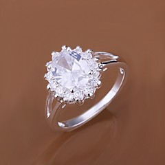 Ring Wedding / Party / Daily / Casual Jewelry Silver Plated Women Statement Rings 1pc,7 / 8 Silver