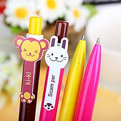 Cute Rainbow Blue Ink Ballpoint Pen(Random Color)