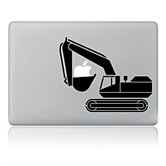 det en gravemaskine design dekorative hud sticker til MacBook Air / pro / pro med retina display