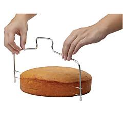 mode dubbele lijn verstelbare RVS metalen taart gesneden instrumenten taart snijmachine apparaat schimmel bakvormen keuken koken