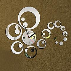 3D Modern Style Acrylic DIY Ring Mirror Wall Clock