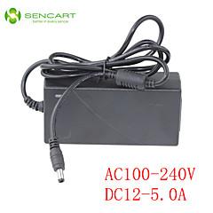LED Light Bar Adapter Input AC100-240V 50/60HZ Output DC12V 5A Switching Power Supply