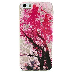 Pink Tree Pattern TPU Relief Back Cover Case for iPhone 5