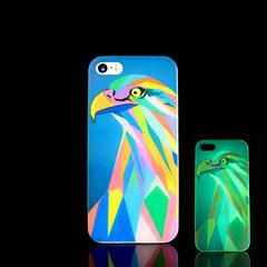 pássaro padrão brilho no caso duro escuro para iphone 5 / iPhone 5 s