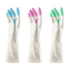 πλύσιμο λατέξ μέχρι αδιάβροχα γάντια καθαρισμού πιάτων κουζίνα (χρώμα τυχαία) 16x9cm