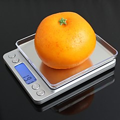 "i-2000 1.7 ""escala de mesa digital da cozinha levou (2 x aaa / 2000g / 0.1g)"