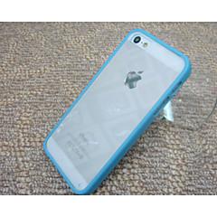 아이폰 5 / 5S에 대한 실리카 겔 보호 슬리브 TPU 투명 뒤 (모듬 된 색상)