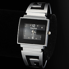Women's Simple Rectangle Dial Alloy Band Quartz Analog Bracelet Watch Cool Watches Unique Watches Strap Watch