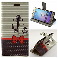 The Bow String Pattern PU Leather with Case and Card Slot for Samsung Galaxy S6