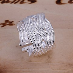 Ring Wedding / Party / Daily / Casual Jewelry Silver Plated Women Statement Rings 1pc,Adjustable Silver