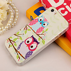 Owl Couple Painting TPU Falling Proof Full Body Case for iPhone 5/5S