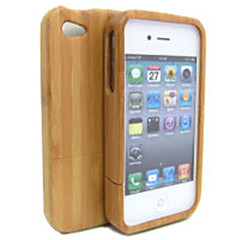 Luxury Handmade Hard Modish Enduring Pure Wood Natural Wooden Bamboo Case Cover for Iphone 4 4s