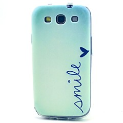 Smile Pattern TPU Soft Case for S3 I9300