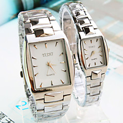 Couple's New SquareDial Steel strip Fashion Quartz Watch  (Assorted Colors)