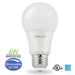 Bymea E26 6W 14*SMD2835 500lm Sofe White,Daylight LED Bulb Light A19 Energy Saving 40watt Equivalent (120V)