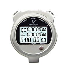 Metal Electronic Timer Stopwatch TF100F Three Row 100 Memory Stopwatch Stopwatch Timer Movement
