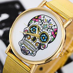 Unisex Fashion Watch Fashion Printed Skull Alloy Belt Quartz Watch Cool Watches Unique Watches