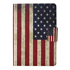 americana de cuero patrón de la bandera caso de cuerpo completo con soporte y ranura para tarjeta de paperwhite Amazonas enciende /