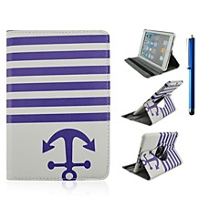 360 Degree Rotation Wave Pattern PU Leather Case with Stand and Pen for iPad 2/3/4