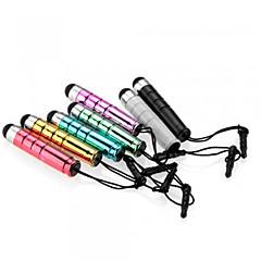 kinston® 7 x bullet infällbar kapacitiv touch penna med anti-skymning hörlurskontakt för iphone / ipad / Samsung och andra