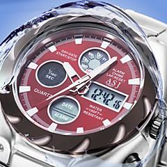 nye militære herre sport håndled kvarts digtal ur dato dag alarm 3ATM vandtæt lcd kronograf rustfrit stål ure