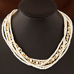 Delicate and Elegant European Style Fashion Multilayer Pearl Necklace