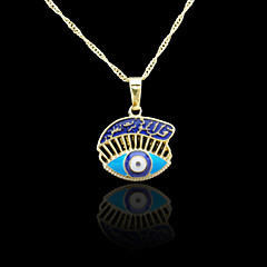18K Real Gold Plated Evil Eye Muslim Allah Islamic Pendant Necklace