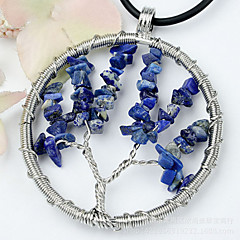 Tree Necklace Women Midnight Blues Tree Of Life Necklace Fashion Crystal Gem Tree Pendants Necklaces Jewelry