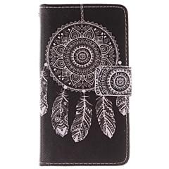 hvid dreamcatcher mønster pu læder hele kroppen tilfældet med stativ og kort slot til Nokia Lumia N630