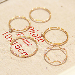 Mittelfingerring Imitation Diamant Aleación Modisch Golden Schmuck Alltag Normal 1 Set