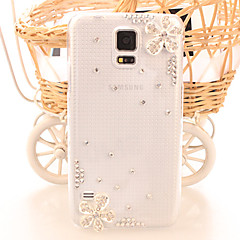 Fashion Diagonal Cherry blossoms Case Bowknot Pattern Rhinestone Case for S5