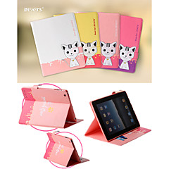 leiers® nydelig 3d domi katt ii magnetisk flip lær deksel wallet card slot tilfelle stå for ipad 2/3/4 (assorterte farger)