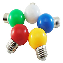 5pcs 1w e27 5xsmd2835 350LM lâmpada bolha bola de cor lâmpadas led (cor aleatória)
