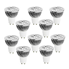 Focos Regulable GU10 4.0 W 4 LED de Alta Potencia 320 LM Blanco Cálido / Blanco Fresco / Blanco Natural AC 100-240 V 10 piezas