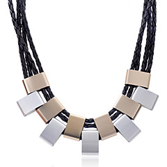 Necklace Statement Necklaces Jewelry Party / Daily / Casual Fashion Alloy / Leather Silver 1pc Gift