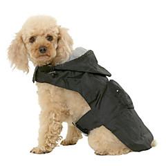Gatos / Perros Abrigos / Impermeable / Chaleco Rojo / Negro / Azul Ropa para Perro Primavera/Otoño Un Color A Prueba de Agua